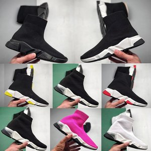 2021 Sock shoes uomo donna Luxurys Designers platform sneaker Beige Yellow Fluo Black pink Whit red Neon Flat fashion vintage sports fashion