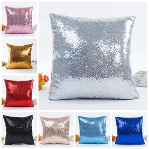 Sequin Glitter Pillow Case Home Divano letto Auto Magic Magic Mermaid Cuscino Caso Home Stampa Casa Throw Divano Cuscino YHM289