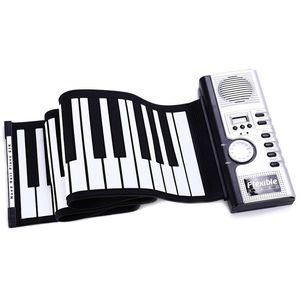61 Keys Roll Up Piano Digital Flexible Silicone Folding USB Electronic Keyboard Easy To Take MIDI Keyboard Musical Instrument