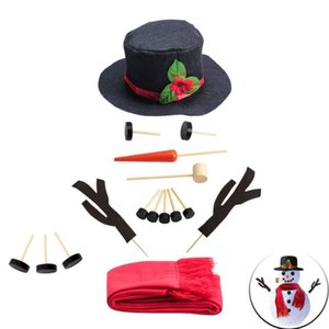 Winter Party Kids Toys DIY Snowman Making Decorating Dressing Kit Christmas Holiday Decoration Gift Make a Snowman Tools GWD4952