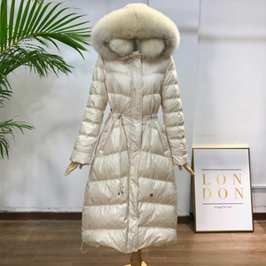 2021 New Real Fox Fur Collar Female Er Jackets Warm Parka Women Down Jacket Winter Coat Pp258 Qy4p