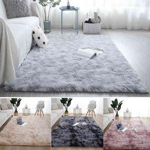 Fluffy Rug Plush Carpet Thick Bed Carpets Anti-slip Floor Living Rugs Tie Dyeing Velvet Kids Room Mat