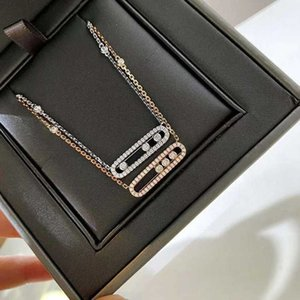 S925 Sterling Silver Messika High Jewelry Fashion and Exquisite Necklace Luxury Ladies Clavicle Chain