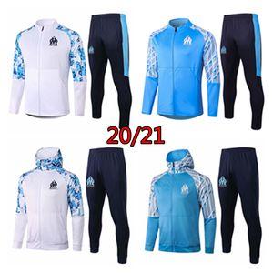 20 21 marseille men jacket Ocampos hooded Radonjic tracksuit football hoodie Thauvin training track suit Germain soccer shirt sportwear