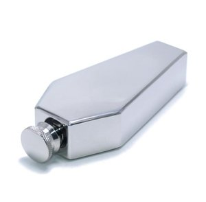 50PCS Mini Hip Flask 100ML Personalized Coffin Shape Stainless Steel Portable Flagon Travel Wine Pot Bar Supplies Men's Gift SN5657