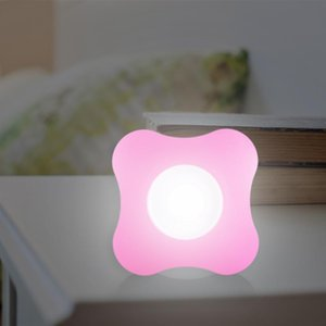 ABS 6LED Smart Night Light 4 Leaves Flower Shaped Human Body Induction Lighting for Kitchen Bedroom Cabinet Lamps