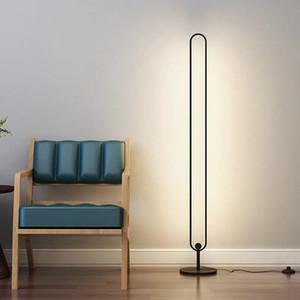 Nordic Minimalist LED Zemin Lambaları Oturma Odası Yatak Odası LED Siyah Ayakta Lambaları Luminaria Ayakta Lambaları Loft Dekor Lambası