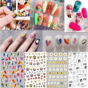 Ins new stickers Zou Ju nail paste Murakami sun nail paste net red love color contrast nail Decal