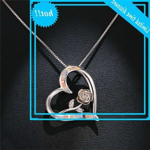Finger Female Opal Hangers Classic Silver Colour Bruiloft Chain Nice Hrart Rose Folwer Chains for Women