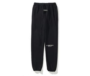 Erkek stilisti parça pantolon erkek siyah beyaz gri haki joggers pantolon essentials yansıtıcı sweatpants erkekler kargo pantolon kiriş ayak pantolon