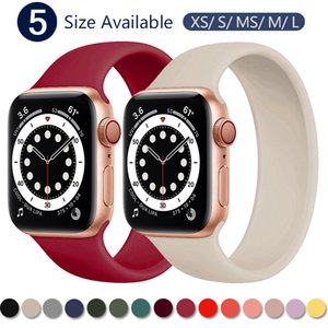Strap for Apple Watch 5 Band 40mm 44mm iWatch serie 4 5 6 SE Elastic Belt Silicone Solo Loop bracelet Apple watch band 42mm 38mm