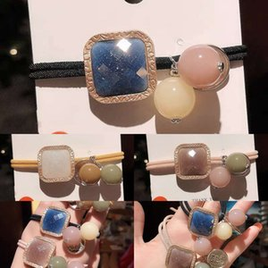 c2021style ring South Korea East Gate headband feminine New star jelly Bead Ornament thick rubber band temperament Hair