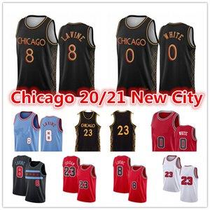 Herren MJ 23 Michael Zach 8 Lavine Jersey Coby 0 Weiß Wendell 34 Carter Jr. Stadt Scottie Dennis 33 91 Rodman Pippen Basketballtrikots
