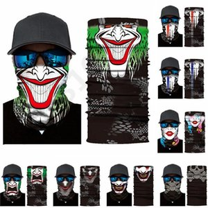 Outdoor Cycling Scarves Bandana Magic Scarf Sunscreen Hair Band Sport Customized Neck Men Flag Starry Skeleton Clow Face Mask 100pcs T1I2281