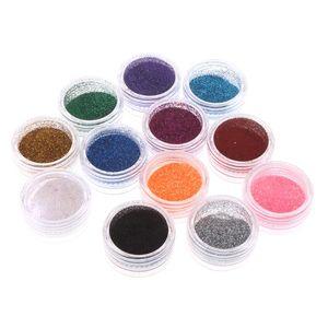 12 Box Glitter Nail Art Tattoo Body Paint Pigment Powder Power Pure для ногтей Дизайн украшения