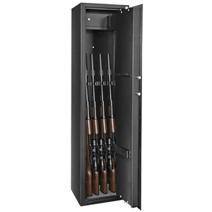 Safe Box Mechanical 9 Gun Safety Rifle Shot Bullet Gun Safety Box Large Jewelry Cash Home Black