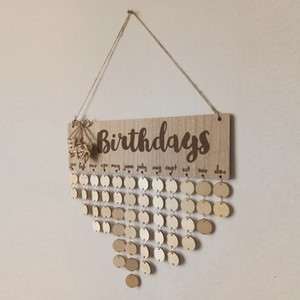 Chritsmas Birthday Special Days Reminder Board Home Hanging Decor Wooden Calendar Board Hanging Ornament New Year Decoration