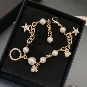 Best Selling Woman Bracelet Pearl Heart Bracelet for Gift Charm Top Quality Brass Bracelet Fashion Jewelry Supply
