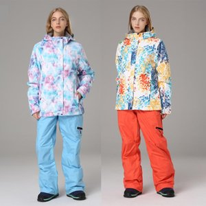 Thick Warm Ski Suit Women Waterproof Windproof Skiing and Snowboarding Jacket Pants Set Female Snow Costumes Outdoor SportWear
