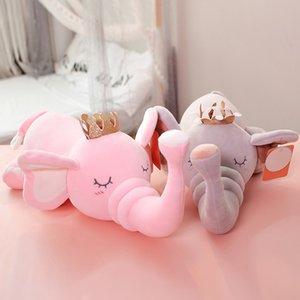 Elephant Plush Toy Cartoon Soft Anime Elephant Stuffed Dolls Kawaii Plush Toys 45cm 60cm 80cm Child Girl Stuff Doll Home Decor