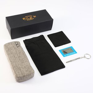 Leather special three piece case, cloth, waterproof glasses bag, convenient screwdriver polarizing test card 123