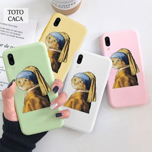 cat with pearl earring Soft phone case for iphone 11 Pro Max X XS XR 6S 7 8 plus Cute cover fpr iphone SE 2020 coque