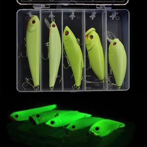 Luminous Road Sub Set Lápiz Mino Mino VIB Ola Escalada Fat Bionic Dury Night Pesca Falso Bait