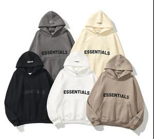 2021 Moda Hombres CALIENTE Sudadera Esenciales Essentials Amantes Tops Hiphop Sudadera con capucha Capa Cómoda Ropa casual