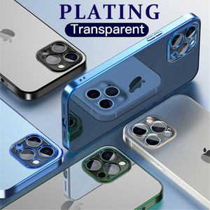 Fashion Square Plating Phone Cases For iPhone 12 Mini 11 Pro Max Xs X XR SE 2020 7 8 Plus 6s 6 Transparent Silicone Cover Case