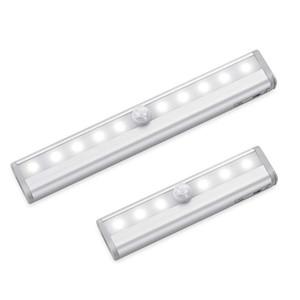Sous Cabinet Light Pir Capteur de mouvement Lights AAA Batterie alimentée à LED Tube Tube Tube Armoire Armoire Escaliers Escaliers Lampe d'éclairage de nuit