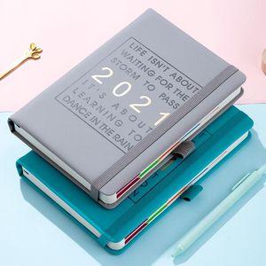 A5 Notebook 2021 Year Agenda Calendar Planner Daily Monthly Plan Diary Almanac