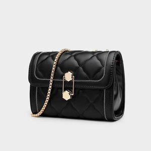 Texture all-match bag bag 2021 spring new fashion shoulder messenger female trend female rhombus chain messenger