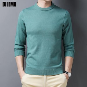 2021 Top Quality Autum Fashion Brand Knit Pullover O Neck Knitted Sweater Men Designer Solid Color Casual Jumper Mens Clothes