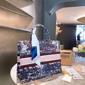 21ss مصمم حقيبة يد النساء حقائب التسوق الأزياء الكلاسيكية مطبوعة حرف اليد جودة عالية المرأة مزاجه حقيبة الكتف
