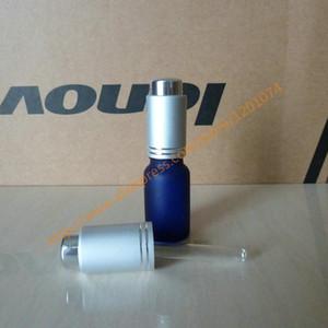 10ml 알루미늄 매트 실버 프레스 dropper 캡으로 냉각 / 파랑 / 녹색 / 갈색 젖빛 유리 병. 오일 바이알, 에센셜 오일 컨테이너