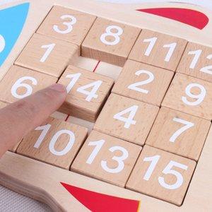 Çocuklar Sudoku Matematik Oyuncaklar Ahşap Balık Şekli Dijital Numaraları 1-15 Zeka Klotski Oyun Oyuncaklar Yetişkin Çocuklar için L0226