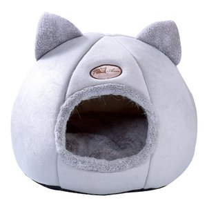 Soft Cat House Warm Bed Cave Tent with Removable Cushion Winter Sleeping Pet Pad Nest Cats Products Y200330 748 K2