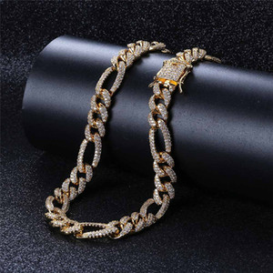 Iced Out Chains 10mm Luxury Designer Necklace Mens Hip Hop Jewelry Bling Diamond Cuban Link Chain Rapper Hiphop Charms Gold Silver Fashion