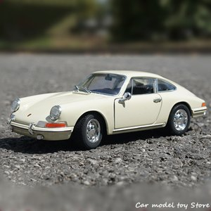 Welly 1:24 1964 Porsche 911 Beige Sports Simulation Alloy Car Model Crafts Decoration Collection Toy Tools Gift