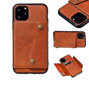 Cüzdan Kılıfları iPhone 12 Pro Max Darbeye PU Deri Çevirme Standı Kredi Kartı Yuvaları iPhone12Pro Tutucu Kapak