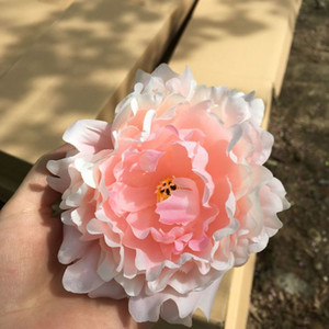 High Quality Silk Peony Flower Heads Wedding Party Decoration Artificial Simulation Silk Peony Camellia Rose Flowers Wedding Decoration