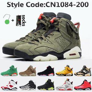 Nike Air Jordan 6 6s Travis Scott retro 6  Jumpman cactos mulheres jack mens Tênis de basquete Hare 6 DMP infravermelho preto Oregon Ducks homens formadores sneakers