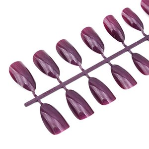Nail Art Equipment 24pcs Sheet Matte Fake Pointy Strong Extension Detachable Tips Manicure Press On False Nails