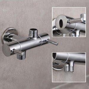 Montoir en laiton Chrome Chrome en deux out BiBcock Robinet de jardin décoratif WC BiBcock Robinet Salle de bain Tapis de toilette