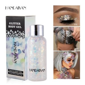 NEW HANDAIYAN Mermaid scale face, body sequins, body milk, flake paste, eye shadow, colorful, polarized party.