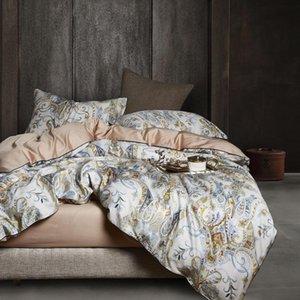 Bedding Sets 29Color Luxury Egyptian Cotton Set Queen King Size 3d Flamingo Leaf Duvet Cover Bed Sheet Fitted Parure De Lit