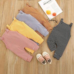 kids clothes girls boys stripe print romper INS newborn infant Jumpsuits 2021 summer Boutique baby Climbing clothes