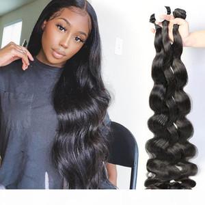 30 32 34 36 38 40 Inch Brazilian Body Wave Hair Weaves 100% Human Hair Weaves 3 Bundles Remy Hair Extensions