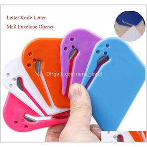 البلاستيك مصغرة إلكتروني سكين إلكتروني البريد مغلف فتاحة سلامة ورقة حراسة القاطع شفرة المعدات المكتبية عشوائية اللون 6agcx zuzrs gsidh