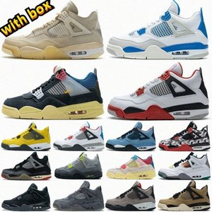 2021 Sail Black Cat Shoes Bred 4 4s Guava Ice Twist White Cement What The Mens Basketball Travis Scotts Obsidian UNC Fearless Women Sneakers
